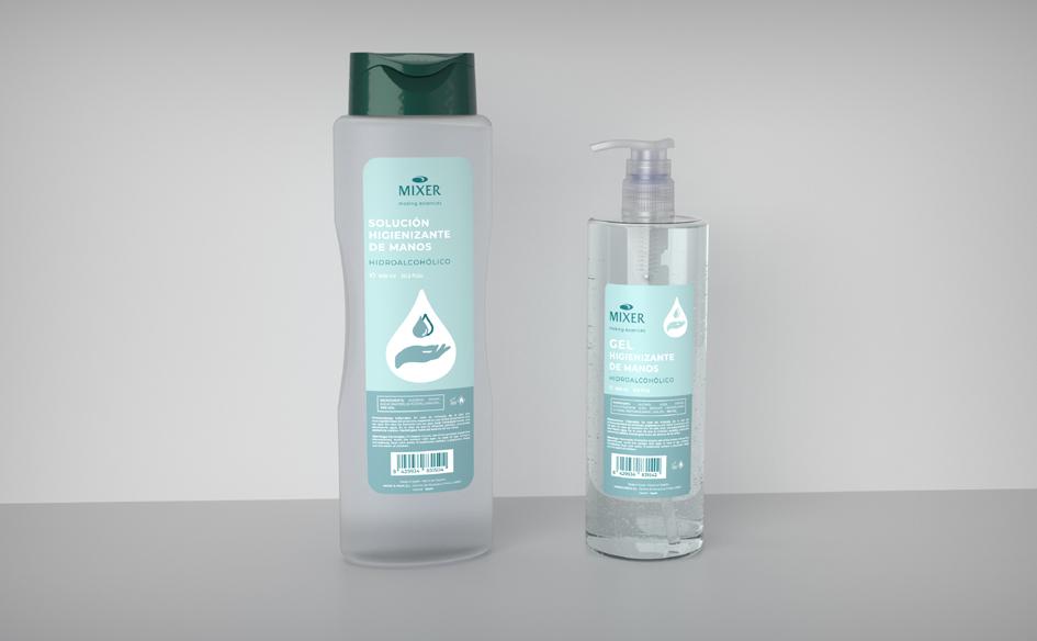 Mixer & Pack facilita la compra de geles hidroalcohólicos