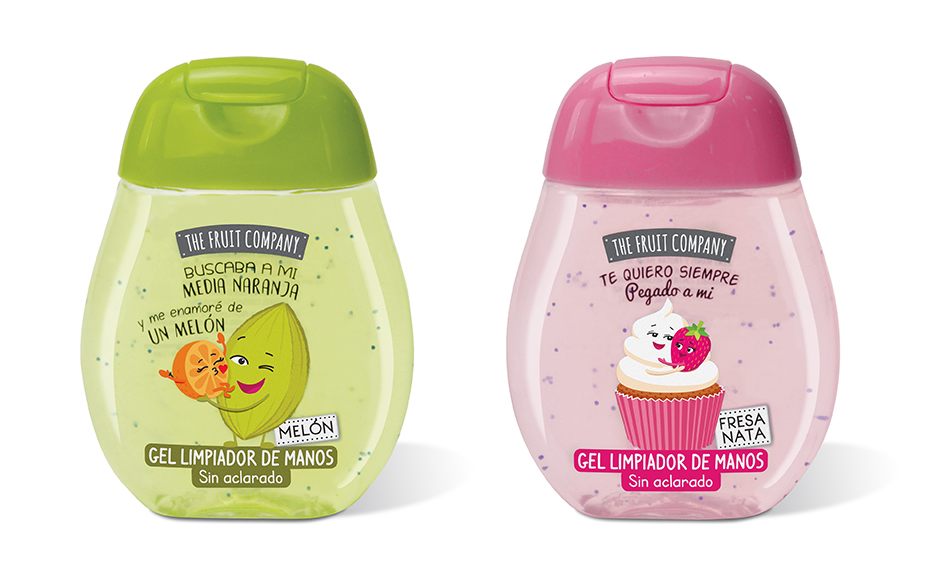 The Fruit Company cuenta con 5 variedades de geles hidroalcohólicos con diferentes fragancias.