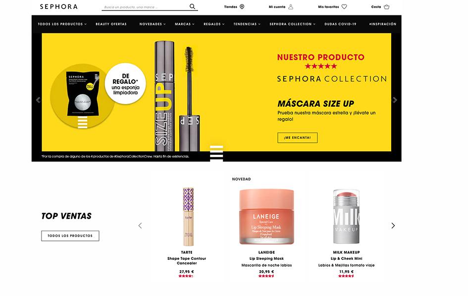 Sephora estrena nueva web