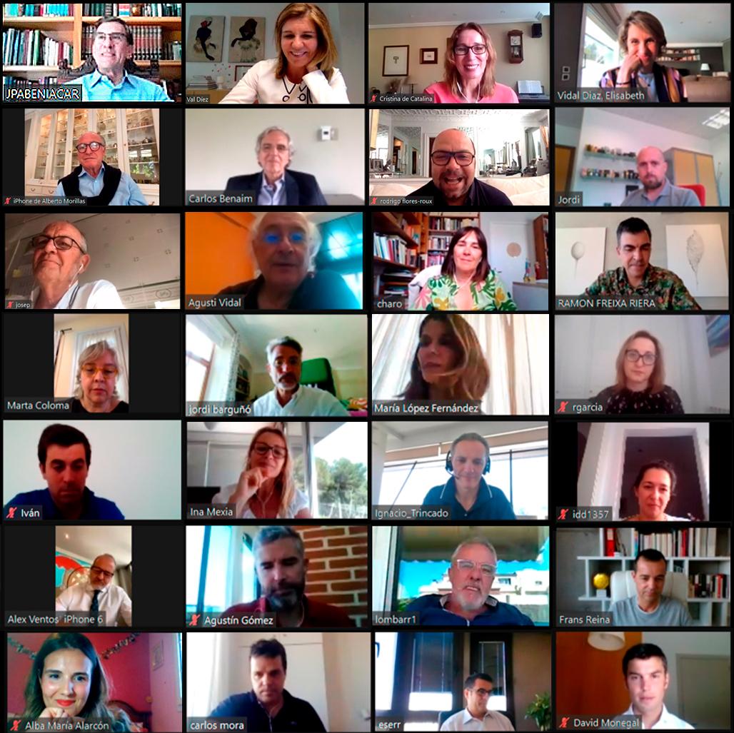 Encuentro virtual de Académicos de la Academia del Perfume