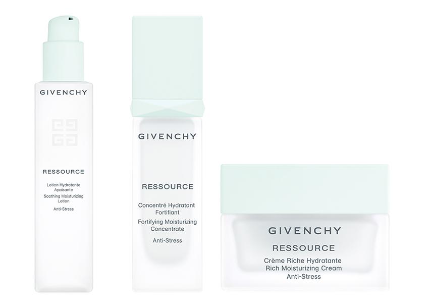 Ressource, Givenchy, línea de cuidado facial anti estrés