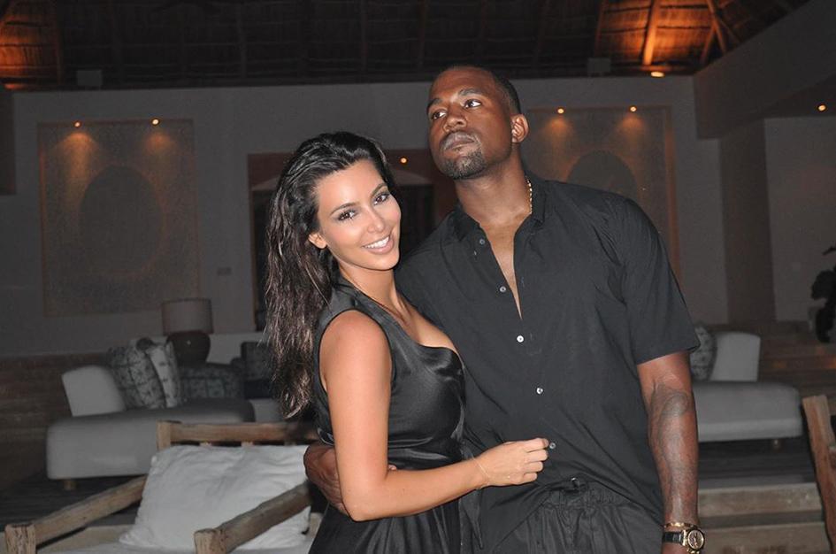 Kim Kardashian y Kanye West para el artículo de la nueva marca de belleza Yeezy