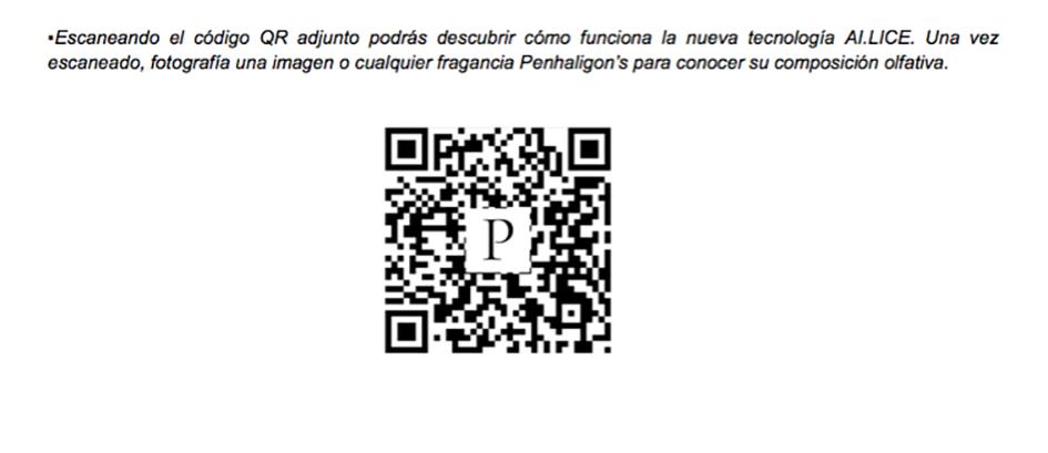 Código QR Puig AI-LICE para Penhaligon's