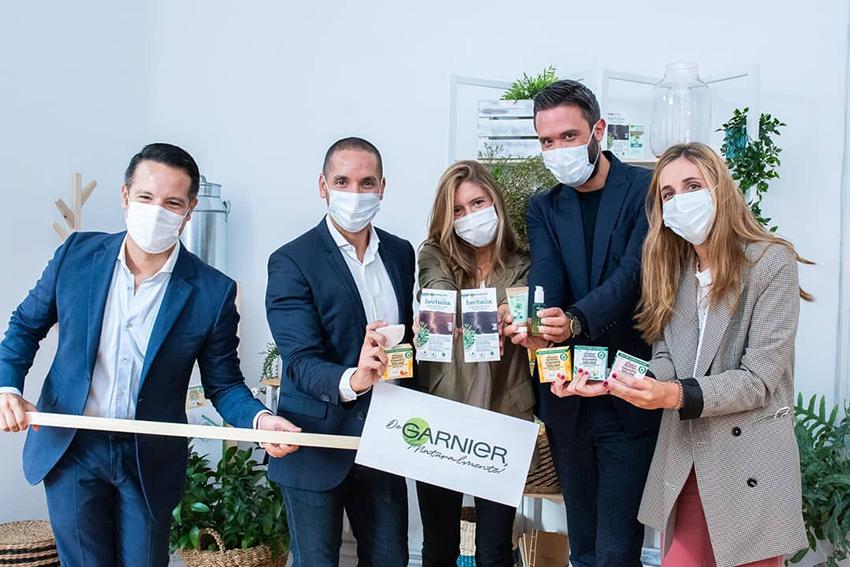 Garnier Go Green, equipo de comunicación Garnier L'Oréal con André Albarrán