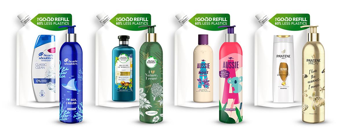 Procter & Gamble presenta nuevos envases de aluminio para sus marcas de cabello