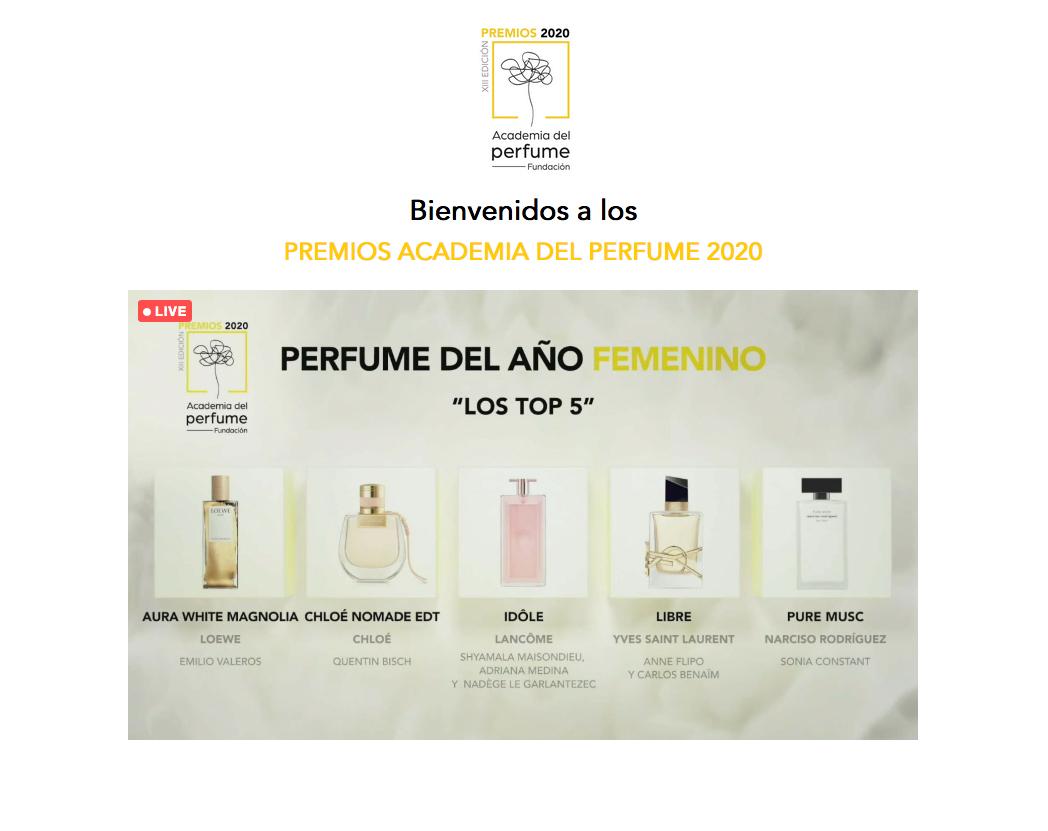 Premios Academia del Perfume 2020