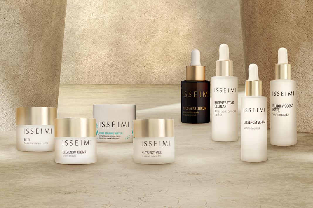 Bodegón de cremas y serums de Isséimi: Compra una crema de Isséimi y llévate el serum de regalo con la oferta de Black Friday