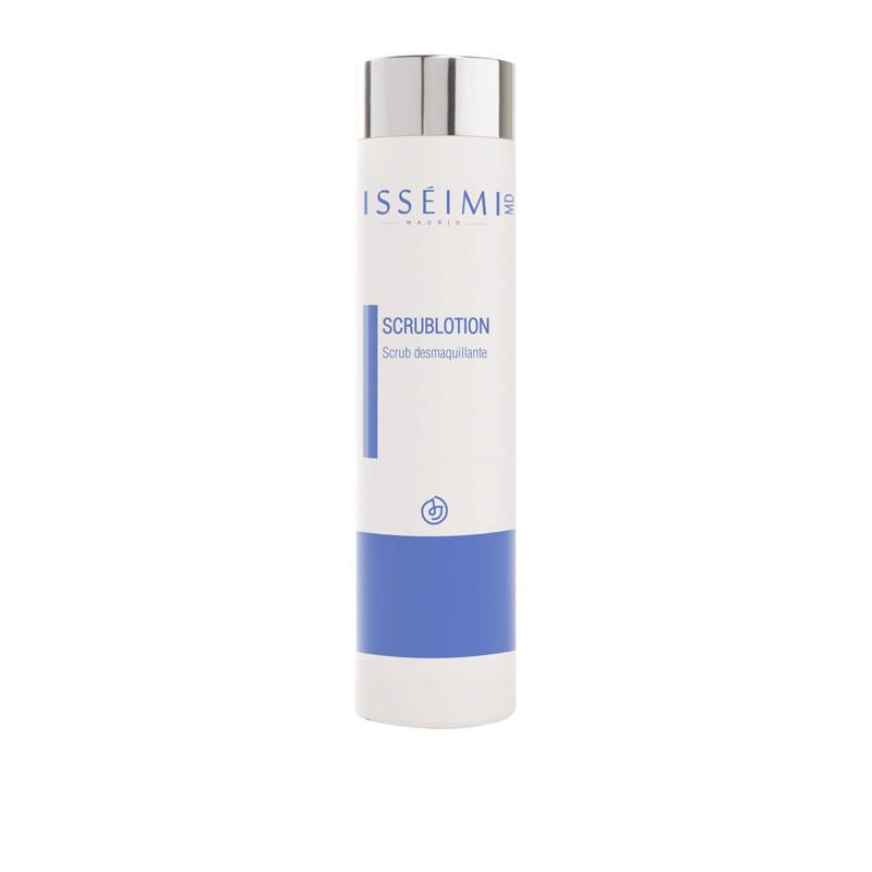 Scrub Lotion, de Isséimi, es una leche limpiadora con micropartículas que ayudan a purificar la piel.