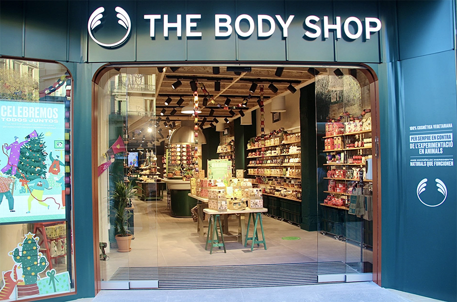 The Body Shop, tienda sostenible en Barcelona
