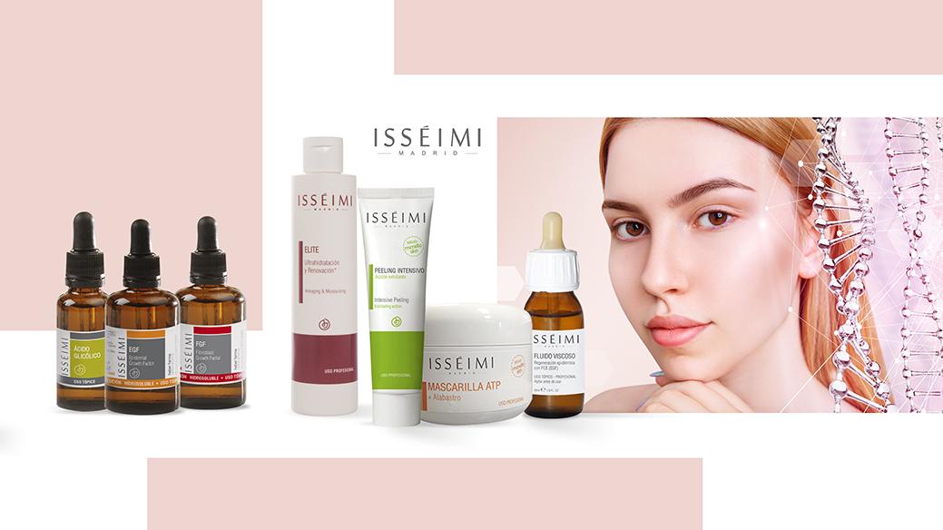ISSÉIMI cosméica profesional con patente propia, Factores de Crecimiento Epidérmico, centros de estética