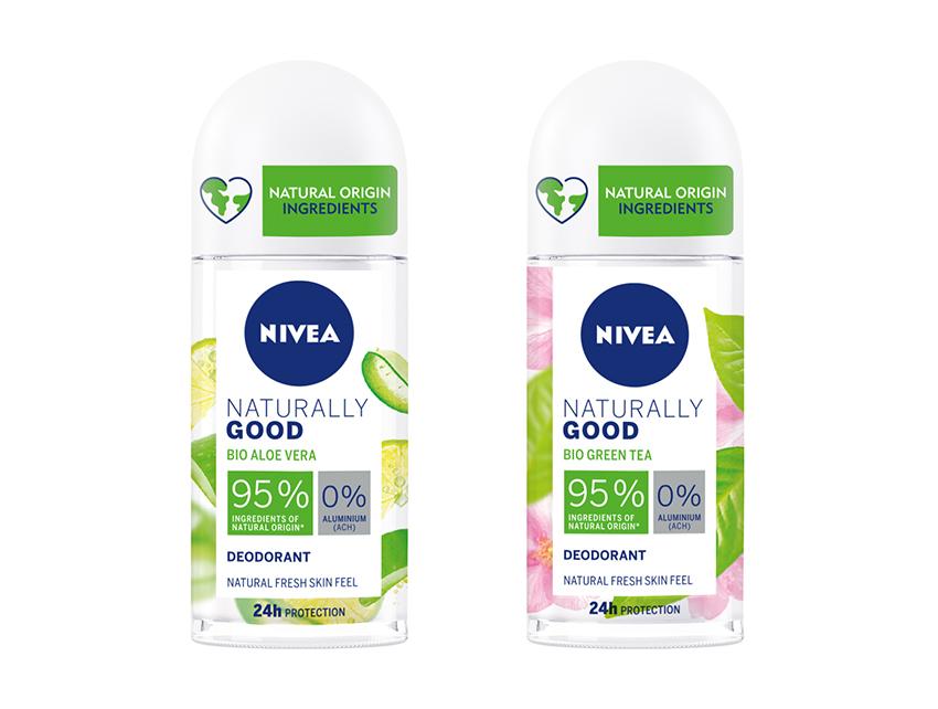 Nivea elige el formato roll-on para su nuevo desodorante vegano y sin sales de aluminio, Naturally Good Desodorante.