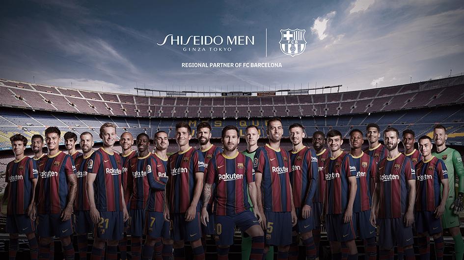 Shiseido Men y FC Barcelona se alían para lanzar nuevas líneas de tratamiento y maquillaje masculino