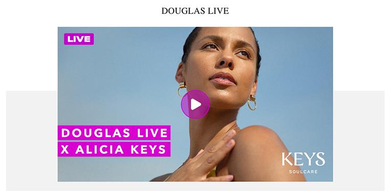 Douglas Live, vídeo streaming de compra en directo