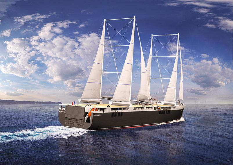 Clarins firma un acuerdo con Neoline para un transporte marítimo más respetuoso con el medio ambiente. En la imagen: barco de Neoline