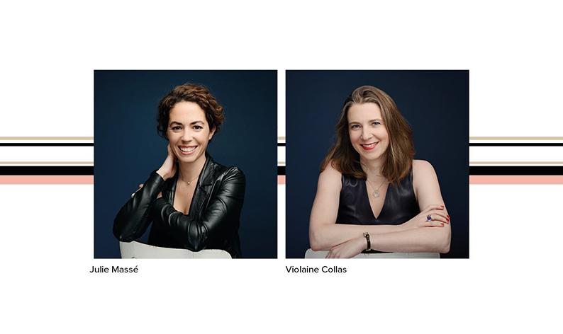Julie Massé y Violaine Collas, perfumistas de la nueva fragancia de Trussardi,